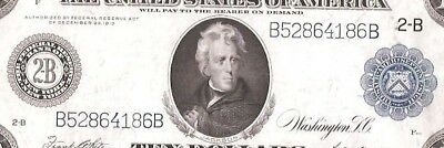 Rare Type-B New York 1914 $10 Federal Reserve Note