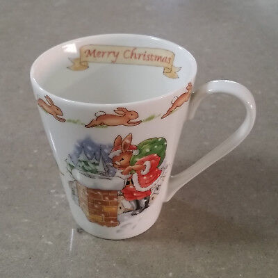 "Bunnykins Royal Doulton: ""Merry Christmas"" Mug / Cup (3 available)"