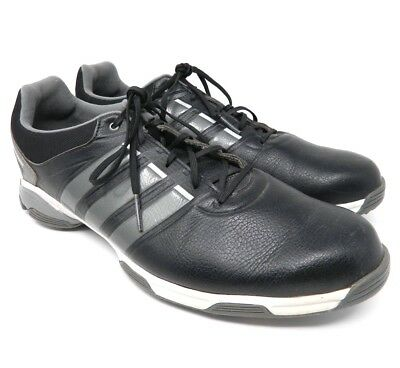 73dce99fde1 Adidas Mens Golf Shoes Size 11.5 Black Adi Power Leather Lace Up