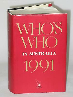 Who's Who in Australia. XXVIIth Edition, 1991.