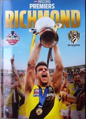 2017 AFL RICHMOND TIGERS PREMIERS RECORD MAGAZINE  PREMIERS plus  TIGERS STICKER
