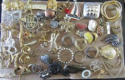 50 Piece Vintage & Old Lot of Pins/ Brooches