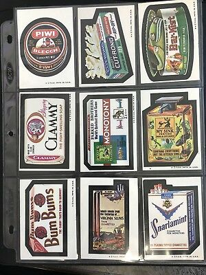 1974 Topps Wacky Packages Original 6th Series Complete Set + Puzzle HIGH GRADE