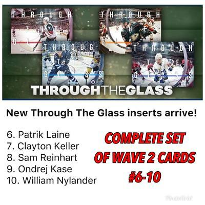 2018 THROUGH THE GLASS WAVE 2 COMPLETE SET OF 5 Topps NHL Skate Digital Card