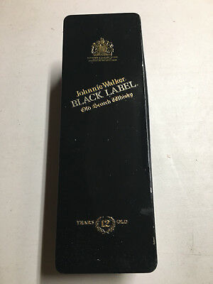 Johnnie Walker Black Label Tin Box W/Hinged Lid