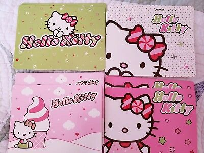 Hello Kitty Note Cards-lot 8-Sanrio-pink-unused
