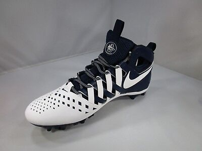 NIKE Huarache LACROSSE Cleats 807142-410 SZ 12.5 Midnight Navy/White