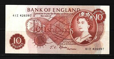 Great Britain - 1966-70 Bank of England 10 Shillings P373c Banknote XF Condition