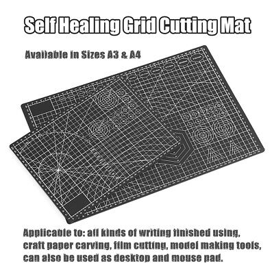 A3 A4 PVC Self Healing Cutting Mat Craft Model Quilting Grid Lines Printed Board