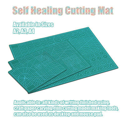 Cutting Mat Self Healing Printed Grid Design NonSlip Framing Surface A2 A3 A4