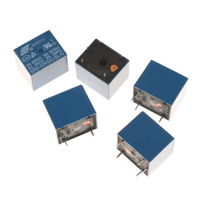 5Pcs 3V Mini  SRD-3VDC-SL-C PCB Type DC Power Relay Ship Fast*~