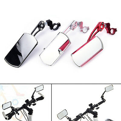Cycling bike bicycle rear view mirror handlebar flexible safety rearview *~