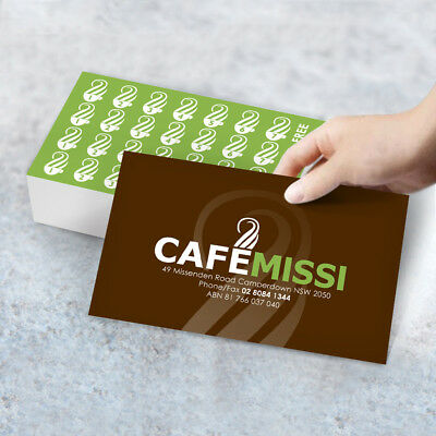 2,000 Loyalty Cards | Printed in Australia | Free Artwork & Delivery | 2 Sided