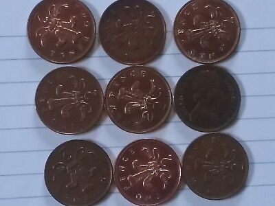 Ten Pence Lot Of 9 United Kingdom Coins