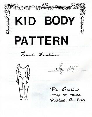 """24"""" French Fashion Kid Body Pattern By Pace Creation   KBP125"""