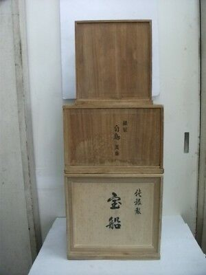 3 Wooden  box of a Japanese paulownia. Japanese antique.