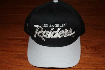 865fad61c7c VINTAGE 90s LOS ANGELES RAIDERS SCRIPT SNAPBACK HAT SPORTS SPECIALTIES CAP  RARE