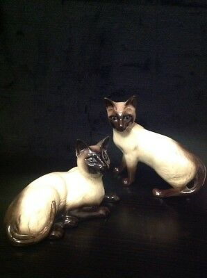 Vintage Beswick Siamese Cats Made In England
