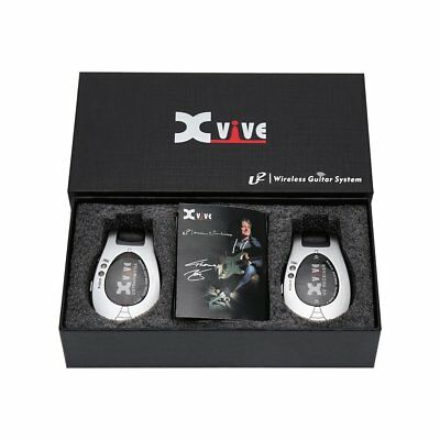 Xvive XV-U2 Vibe Wireless Electric Guitar System Transmitter Receiver Silver*