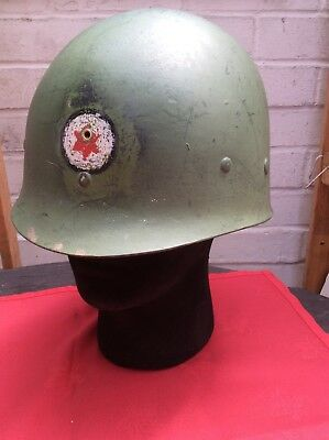 Original WW2 US M1 Helmet Liner by MSA - Badged to the 6th Infantry Division