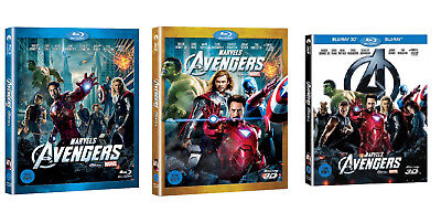 The Avengers (2015, Blu-ray) Slip Case Edition / 2D, 3D, Combo / Pick one!