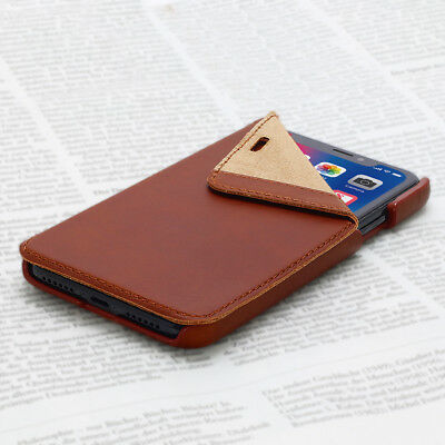 OPIS MOBILE X GARDE BOOK (Cognac): iPhone X Flip-Case Lederhülle