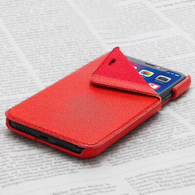 OPIS MOBILE X GARDE BOOK (Rot): iPhone X Flip-Case Lederhülle