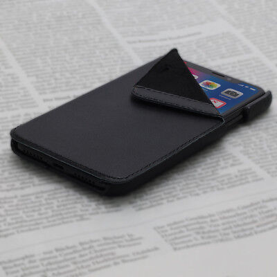 OPIS MOBILE X GARDE BOOK (Schwarz 1): iPhone X Flip-Case Lederhülle