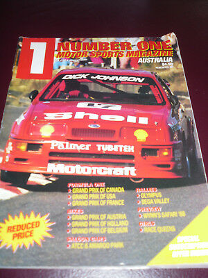Number One Motor Sports Magazine  Vol 1 NO 1 Aug 1988 Dick Johnson