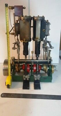 LARGE (15Kg) TWIN CYLINDER STEAM LAUNCH ENGINE