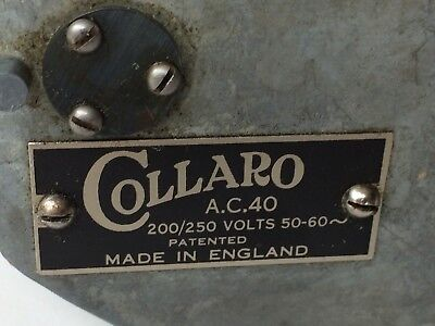Vintage 78 RPM Electric Gramophone Motor by Collaro - AC40 200/250 volts 50-60~