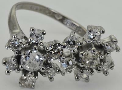 Museum antique Art-Deco French Cartier 18k white gold&1.8ct DIAMOND ring c1930'S
