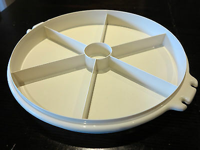 Vintage Retro Tupperware 6 SECTION Large serving tray - no lid