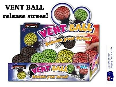 Ball Squishy Mesh Rubber Vent Grape Squeezing Ball Stress all ages Relief Stress