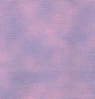 Fabric Flair Cloud Pink/Purple 14 ct Aida with sparkles (45 x 50cm)