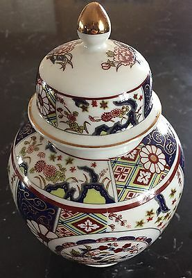 IMARI EMPRESS Japanese Porcelain Ginger Jar Vase Asian