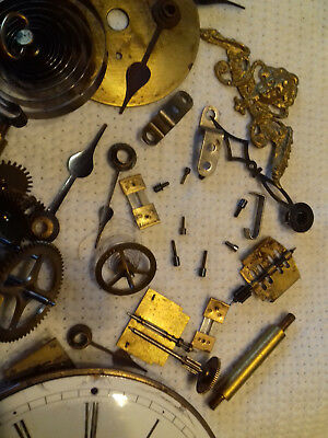 vintage clock parts enamal dial etc