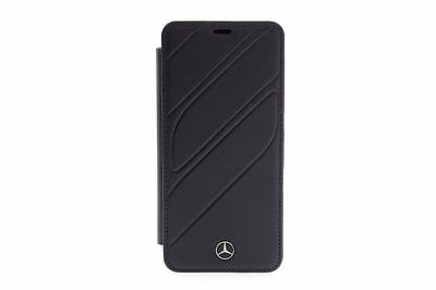 Genuine Mercedes-Benz Organic Leather Impact Book Case for Samsung S9