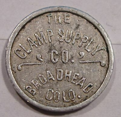 Broadhead, Colorado (ghost town) Token.  Clamp Supply Co. 5¢ in Trade. Unlisted