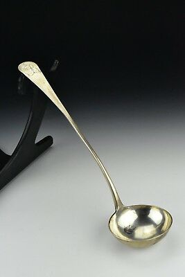 American Coin Silver Soup Ladle James Wolf 18th Century  5.65 troy ounces