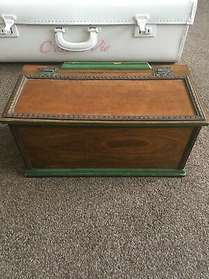 Old Wooden Oak Box Retro Vintage Period Antique Shabby Chic