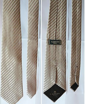 LANVIN cravatta nozze d'oro cerimonia gala festa ceremony dress Tie gold wedding