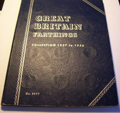Great Britain Farthings Collection, 1937 to 1956 Complete.