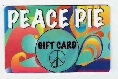 PEACE PIE Gift Card - ICE CREAM Treats - Collectible Only - NO Cash Value