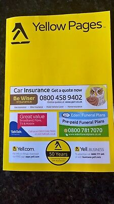 YELLOW PAGES-York, Harragate & Scarborough 2017/2018 -collectable phone book