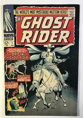 The Ghost Rider 1967 Vol 1 Number 1 Origin  VG-F  OW-W