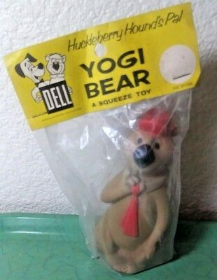 1960s Yogi Bear Dell Squeeze Toy In Original Package  Hanna-Barbera