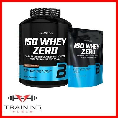 Biotech USA Iso Whey Zero Protein Isolate Lactose & Gluten Free, Added BCAA