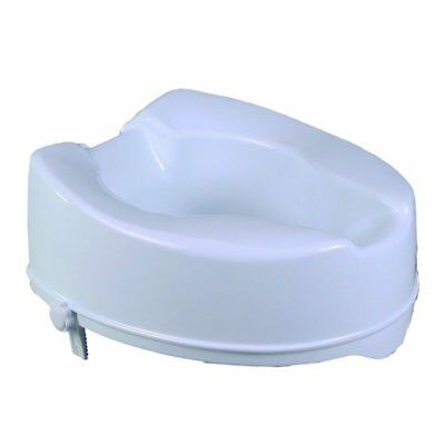 Raised Toilet Seat without Lid 14 cm NEW - FREE POSTAGE