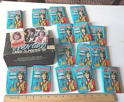 15 Andy Gibb Bee Gees card Bubble Gum packs in Store box